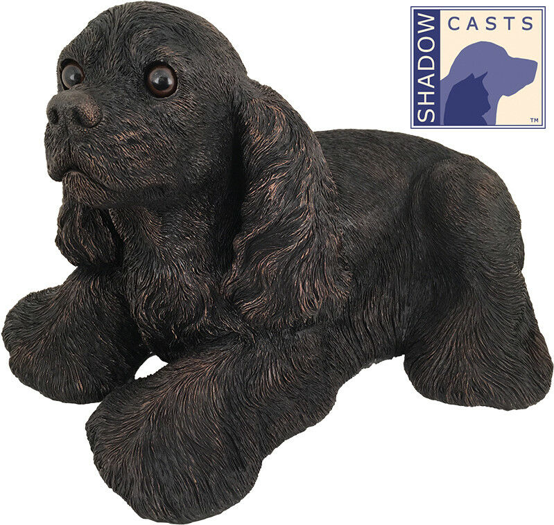 Large 121 Cubic Ins Cocker Spaniel ShadowCasts Bronze Urn for Cremation Ashes