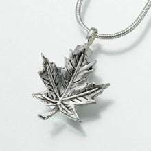 Load image into Gallery viewer, Sterling Silver Maple Leaf Memorial Jewelry Pendant Funeral Cremation Urn