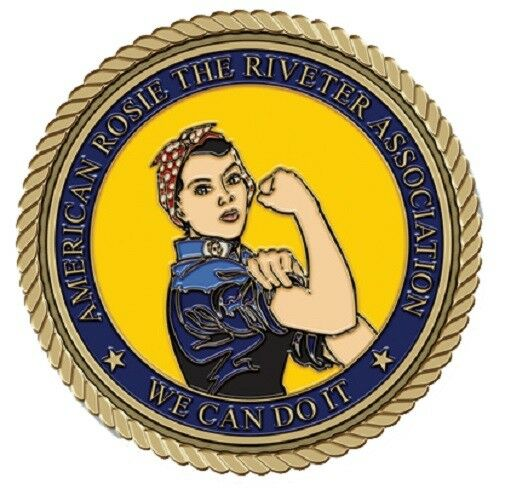 Rosie the Riveter (Color) Medallion for Box Cremation Urn/Flag Case - 2