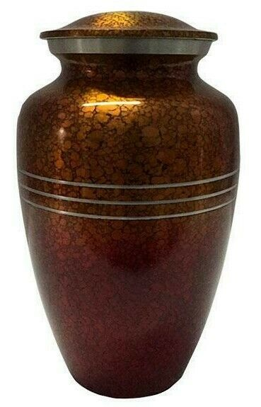 Large/Adult 200 Cubic Inch Metal Sunset Drop Funeral Cremation Urn for Ashes