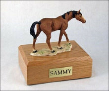 Load image into Gallery viewer, Brown Horse Figurine Funeral Cremation Urn Avail in 3 Different Colors & 4 Size