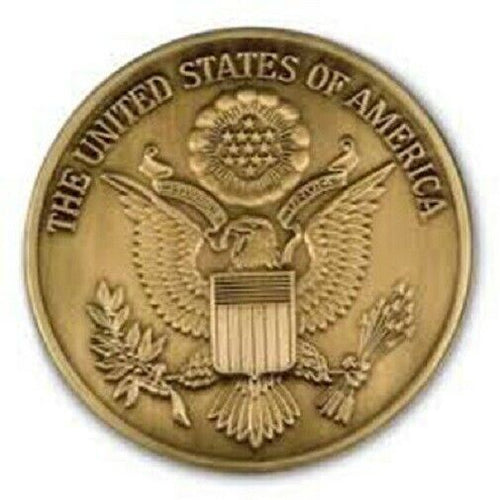 US Great Seal Brass Medallion - 2.5 Inch Diameter
