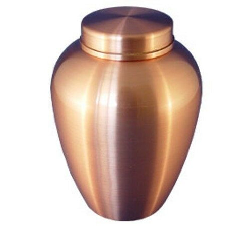 Small/Keepsake 30 Cubic Inches Copper Stainless Steel Cremation Urn for Ashes