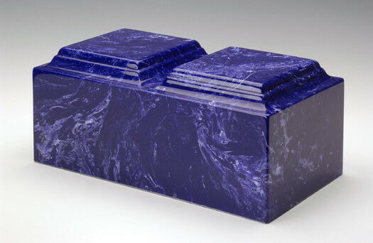 Classic Marble Cobalt Companion Cremation Urn, 420 Cubic Inches, TSA Approved