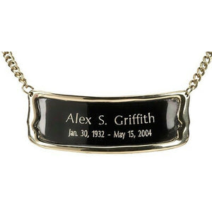 "Personalized Polished Brass Name-Plate Medallion for 6""/7"" Size Cremation Urns"