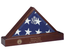 Cherry Pedestal Cremation Urn, 225 Cubic Inch, for Flag Case for 9.5' X 5' Flag