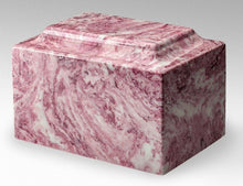 Load image into Gallery viewer, Small/Keepsake Marble Pink & White 5 Cubic Inch Cremation Urn Ashes TSA Approved