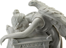 Load image into Gallery viewer, 20 Cubic Inch Angel Mourning Sculptured Resin Keepsake Cremation Urn & Nameplate