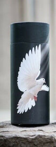 Small/Keepsake 90 Cubic In. Flying Dove Scattering Tube Cremation Urn for Ashes
