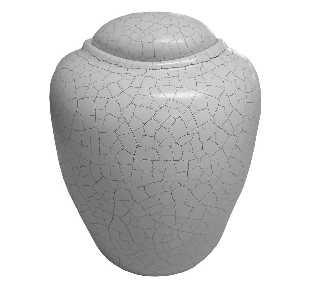 Biodegradable, Adult Antique White Sand and Gelatin Funeral Cremation Urn