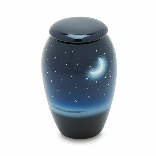 Moon/Starry Night 3 Cubic Inches Small/Keepsake Funeral Cremation Urn for Ashes