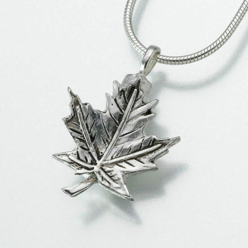 Brass Maple Leaf Memorial Jewelry Pendant Funeral Cremation Urn