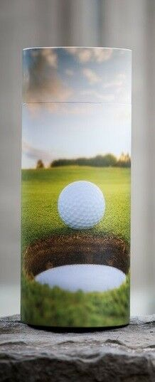 Small/Keepsake 90 Cubic Inch Golf Ball Scattering Tube Cremation Urn for Ashes