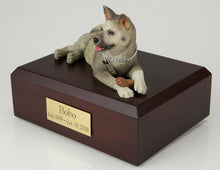 Load image into Gallery viewer, Akita Gray Pet Funeral Cremation Urn Available in 3 Different Colors & 4 Sizes