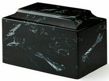 Load image into Gallery viewer, Classic Marble Black & White Oversized 325 Cu. In. Cremation Urn TSA Approved