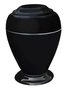 Large 235 Cubic Inch Georgian Vase Black Night Cultured Marble Cremation Urn