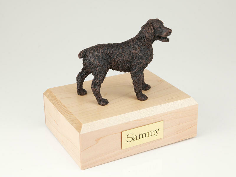 Brittany Bronze Pet Funeral Cremation Urn Available in 3 Diff Colors & 4 Sizes