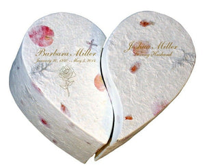 Biodegradable, Eco-Friendly, Floral Companion Size Heart For 2 Cremation Urn