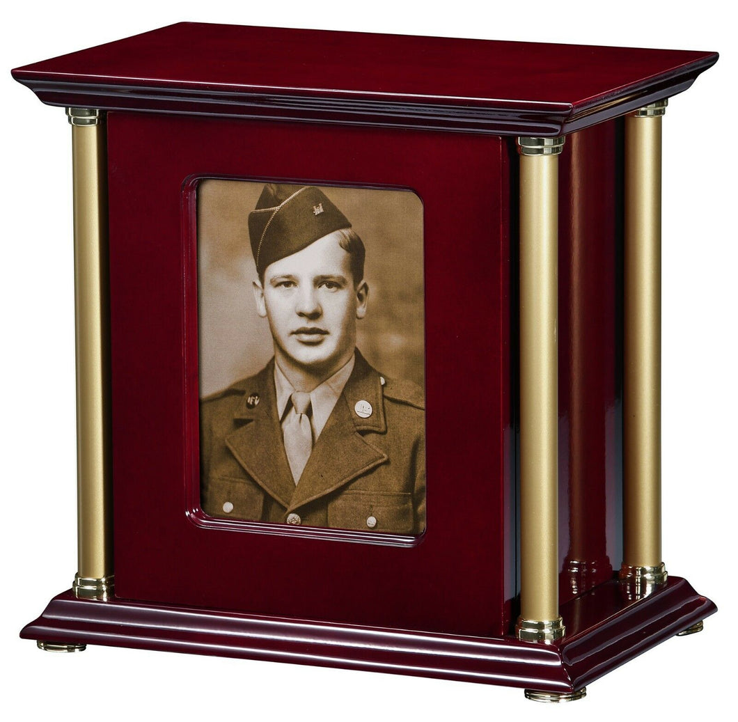 Howard Miller 800-192 (800192) Allegiance Cremation Chest Photo Urn, 275 inches
