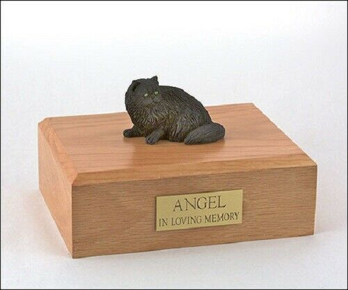 Persian Black Cat Figurine Pet Cremation Urn Available 3 Diff Colors & 4 Sizes