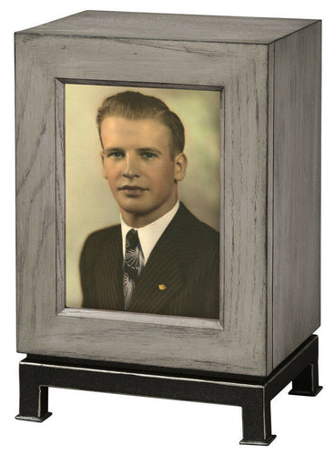 Howard Miller 800-202 (800202) Metro Mantel Cremation Urn for Ashes, 275 inches
