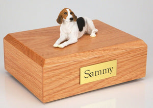 American Foxhound Pet Funeral Cremation Urn Avail in 3 Diff Colors & 4 Sizes