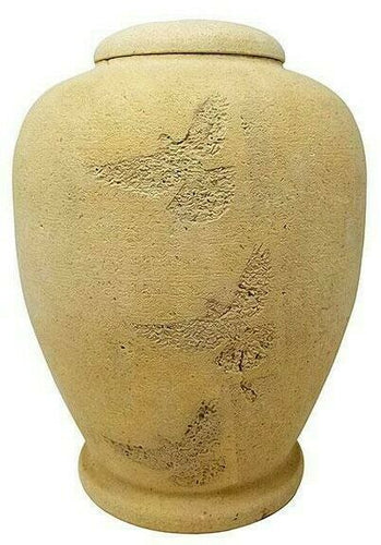 Large/Adult 220 Cubic Inch Biodegradable Flying Dove Funeral Cremation Urn
