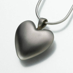 White Bronze Heart Memorial Jewelry Pendant Funeral Cremation Urn