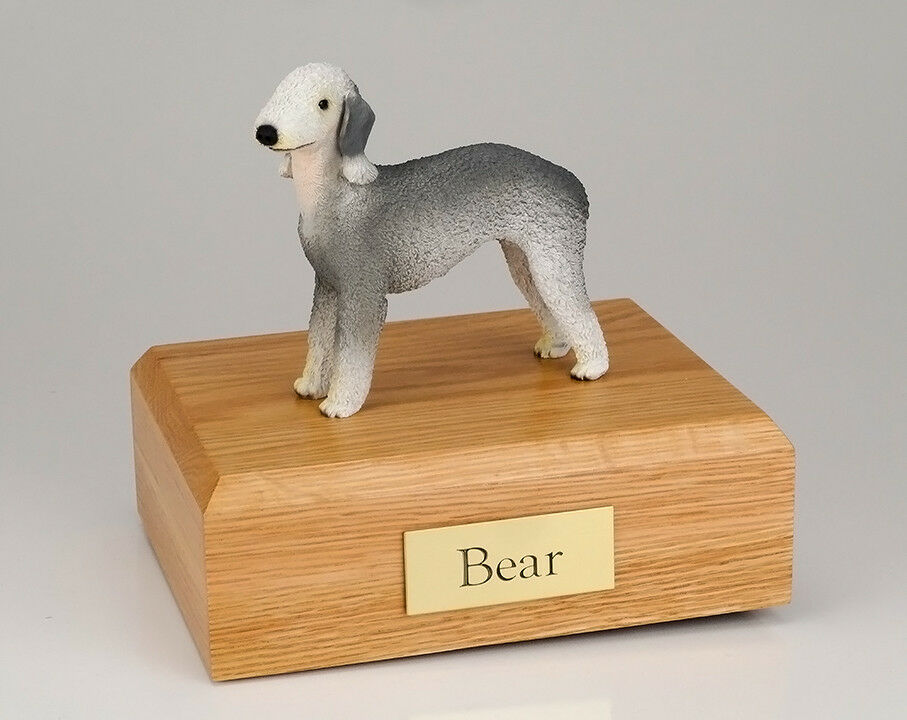 Bedlington Terrier Pet Funeral Cremation Urn Avail. 3 Different Colors 4 Sizes