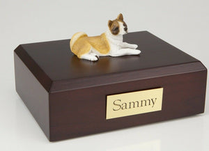 Akita Pet Funeral Cremation Urn Available in 3 Different Colors & 4 Sizes