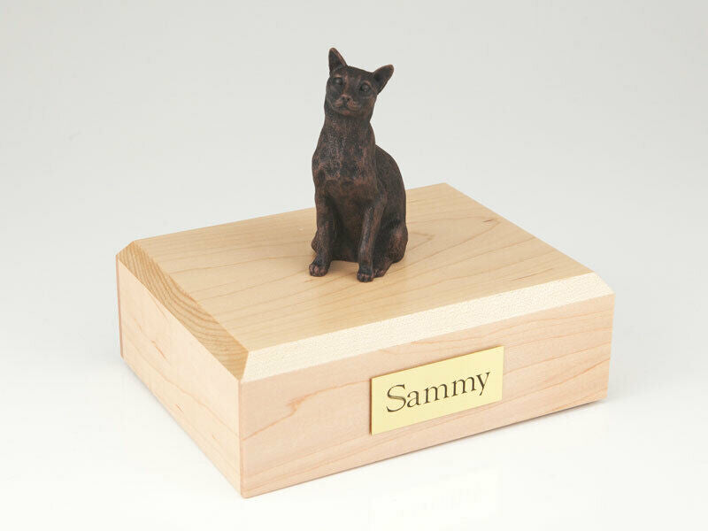 Siamese Bronze Cat Figurine Pet Cremation Urn Available 3 Diff. Colors & 4 Sizes