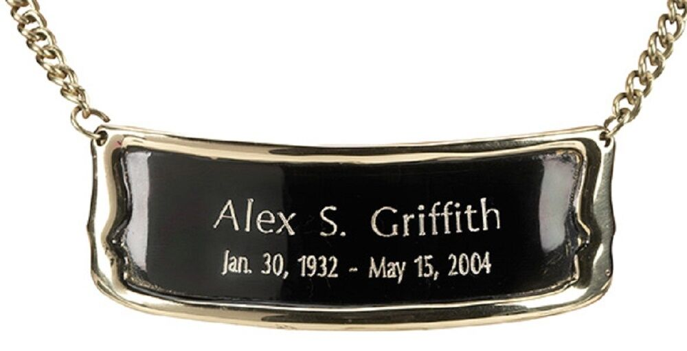 Personalized Brushed Brass Name-Plate Medallion for Adult Size Cremation Urns