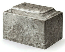 Classic Marble Gray 50 Cubic Inches Funeral Cremation Urn For Ashes TSA Approved
