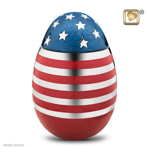 Stars & Stripes American Flag Adult Funeral Cremation Urn, 195 Cubic Inches