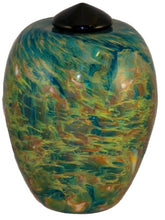 Load image into Gallery viewer, XL/Companion 400 Cubic In Florence Nuvole Funeral Glass Cremation Urn for Ashes