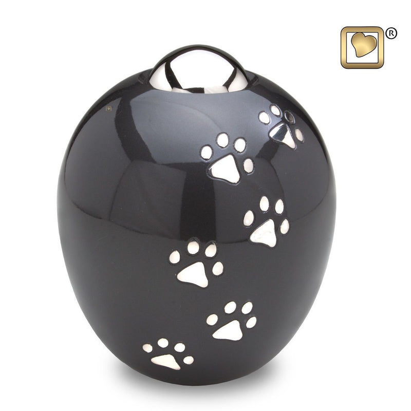 Midnight Adore Large Pet Funeral Cremation Urn, 150 Cubic Inches
