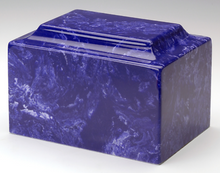 Classic Marble Cobalt Adult Funeral Cremation Urn, 210 Cubic Inches TSA Approved