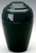 Load image into Gallery viewer, Grecian Green Granite Adult Funeral Cremation Urn, 190 Cubic Inches TSA Approved