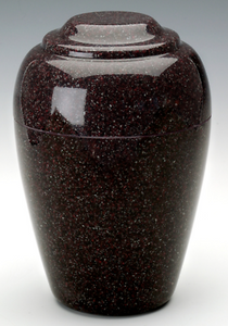 Grecian Vintage Red Granite Adult Cremation Urn, 190 Cubic Inches, TSA Approved