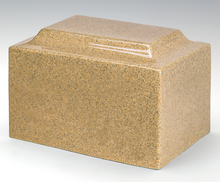 Keepsake Classic Gold Granite Funeral Cremation Urn, 25 Cubic Inch TSA Approved