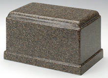 Load image into Gallery viewer, Olympus Brown Granite Adult Funeral Cremation Urn, 275 Cubic Inches TSA Approved