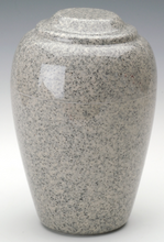 Grecian Mist Gray Granite Adult Cremation Urn, 190 Cubic Inches, TSA Approved