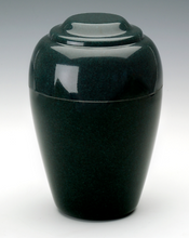 Small Grecian Green Granite Keepsake Cremation Urn, 35 Cubic Inches TSA Approved