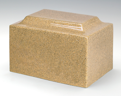 Small/Keepsake Granite Golden Sand 5 Cubic Inch Cremation Urn Ashes TSA Approved