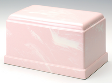 Olympus Cultured Marble Pink Adult Cremation Urn, 275 Cubic Inches TSA Approved