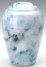 Load image into Gallery viewer, Large Grecian Onyx Sapphire Adult Funeral Cremation Urn, 190 Cubic Inches