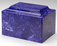 Marble Cobalt Infant/Child/Pet Cremation Urn Ashes 50 Cubic Inches, TSA Approved