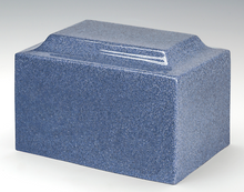 Load image into Gallery viewer, Classic Granite Blue 50 Cubic Inches Cremation Urn For Ashes, TSA Approved