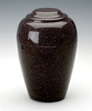 Load image into Gallery viewer, Small Grecian Vintage Red Granite Keepsake Cremation Urn 35 Cu. In. TSA Approved