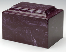 Marble Merlot Infant/Child/Pet Funeral Cremation Urn 50 Cubic Inch TSA Approved